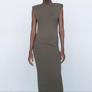 Zara Shoulder Pad Knit Dress